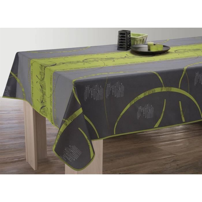 Nappe anti-taches Ovale 150x240 cm - Astrid anis - Achat / Vente ...