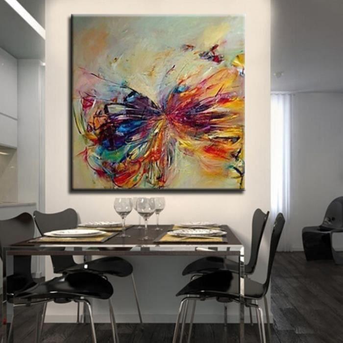 peinture toile huile tableau papillon artistique art peint main painting achat vente. Black Bedroom Furniture Sets. Home Design Ideas