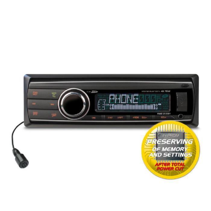 AUTORADIO RMD212BT - Autoradio USB/SD/MP3/AUX IN/BT/EEPROM