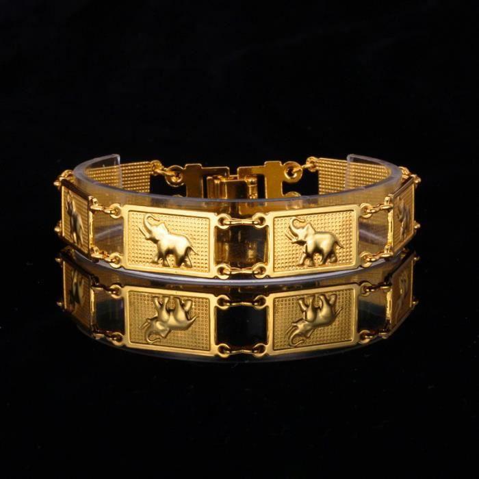 Bracelet homme plaque or