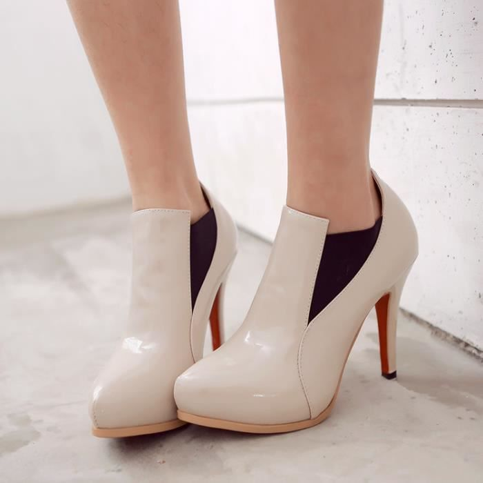 bottes courtes-Femmes de couleurs assorties tal...