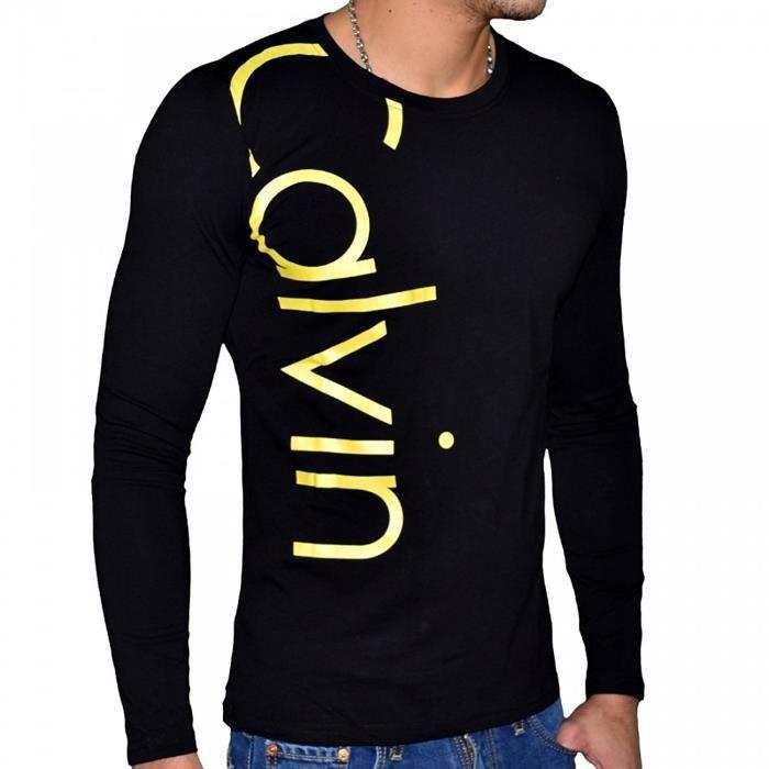T Shirt Calvin Klein Homme Manches Courtes Cmp06v Noir Noir Noir