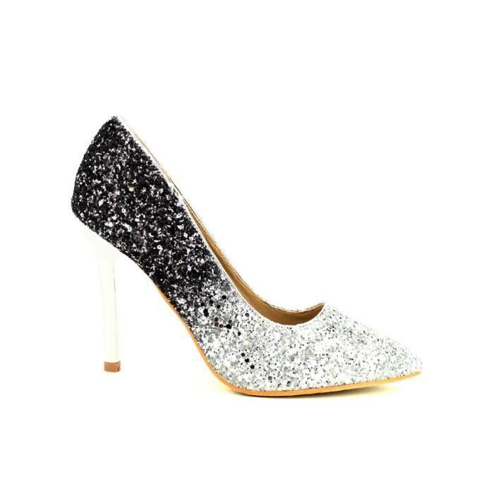 escarpin, Escarpins Argenté Chaussures Femme, Cendriyon