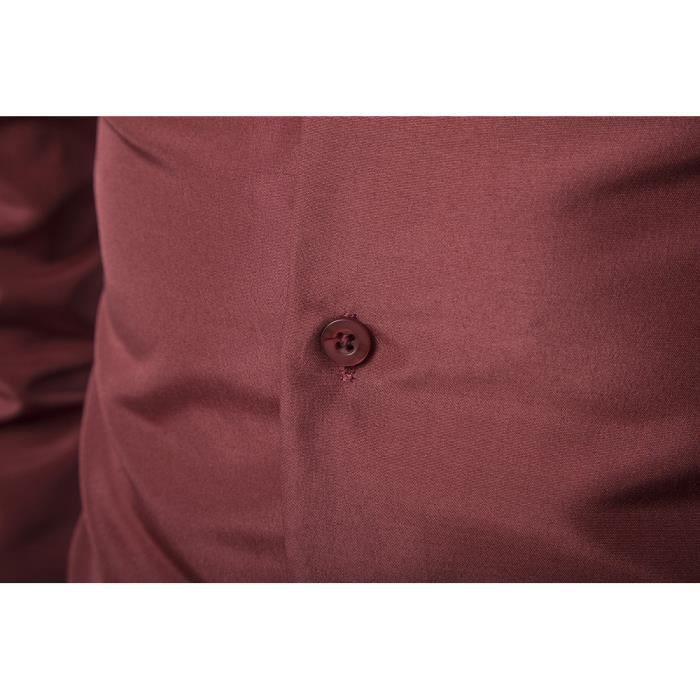 manches longues Chemise pour hommes rouge à occasionnels Vin g5UUzq