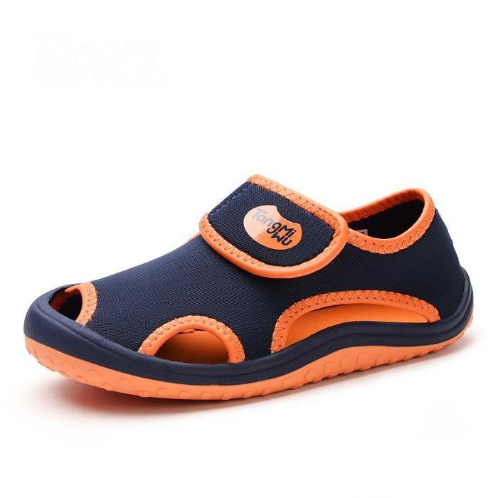 5bbc502354156 Enfant Sandales Bébé Fille Garçon Mode Plage Chaussures pour enfants Velcro