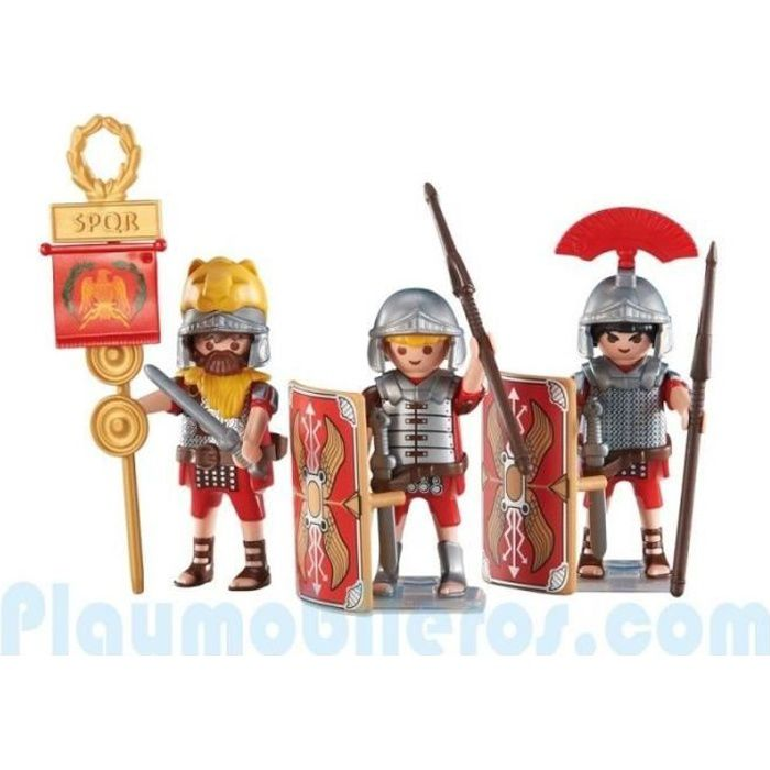 playmobil 6490 lot 3 figurines soldat romain spqr nouveaut 2017 achat vente figurine. Black Bedroom Furniture Sets. Home Design Ideas