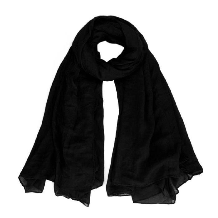 4741607c258 Femmes Pur Coton Surdimensionne enveloppe D echarpe Chale Couverture ...