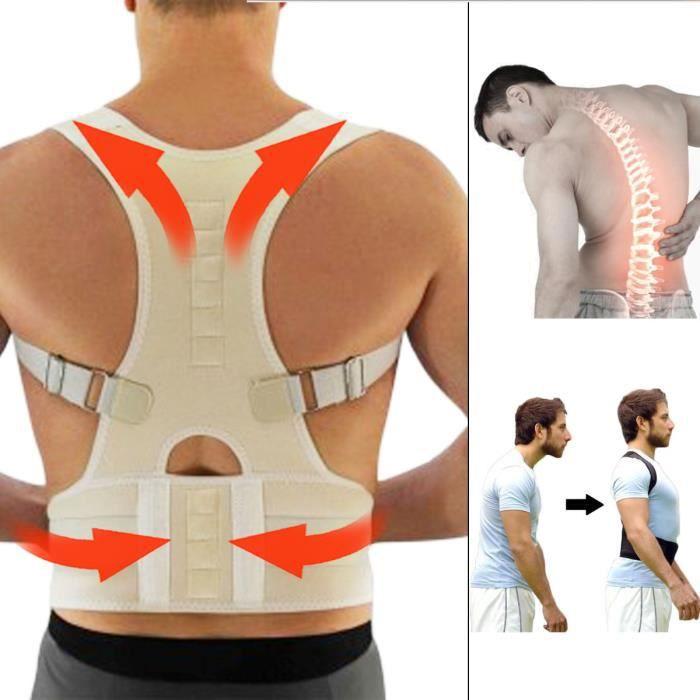 TEMPSA Posture Ceinture Magnétique Correcteur Epaule Dos Soutien Réglable  Homme Femme S 3772fa1c1d3