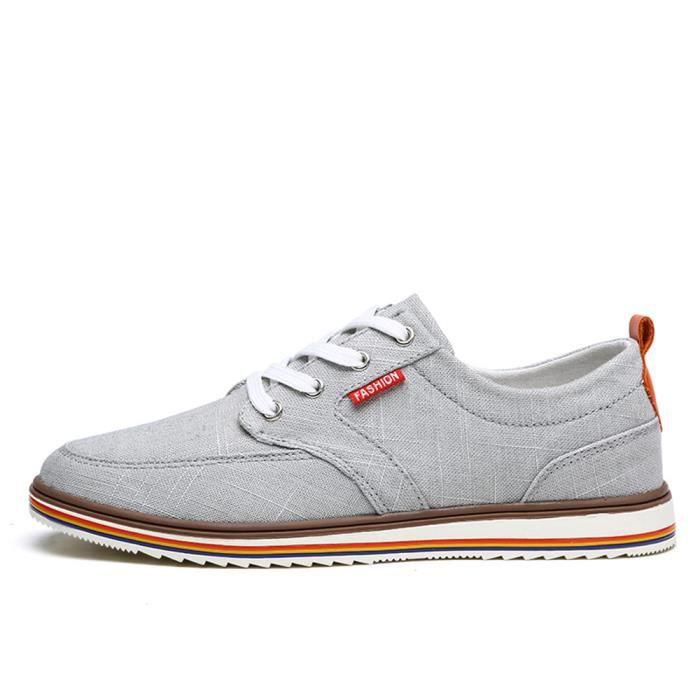 Chaussures En Toile Hommes Basses Quatre Saisons Populaire BMMJ-XZ133Blanc39 ApRa55T