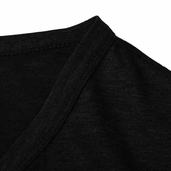 Size Noir Ouvert Manteau Pure Color Avant Longues Manches Outwear Femmes Plus Fit Casual 7Ewq44B