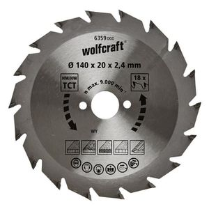 WOLFCRAFT Lame scie circulaire CT - 18 dents - ? 140 x 20 mm