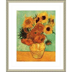 TABLEAU - TOILE Sunflowers Tournesols Vincent Van Gogh Biege POSTE