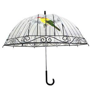 PARAPLUIE Transparent Cage d'oiseaux Impression Parapluie