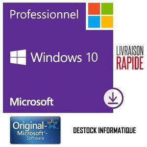 SYST EXPLOIT À TÉLÉCHARGER Windows 10 Pro / Professionnel 32/64 bits - Livrai