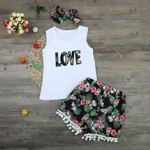 Ensemble de vêtements Bébé nouveau-né filles garçon amour Tops t-shirt +