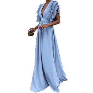 9e5044768da ROBE Robe dos nu Taille Plus solide Vintage Fly manches