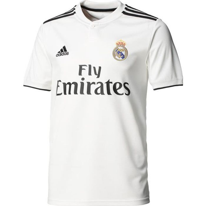 ADIDAS Maillot de football Real Domicile 18 - Homme - Blanc
