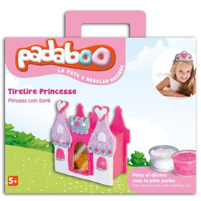 Padaboo kit pâte à modeler tirelire princesse