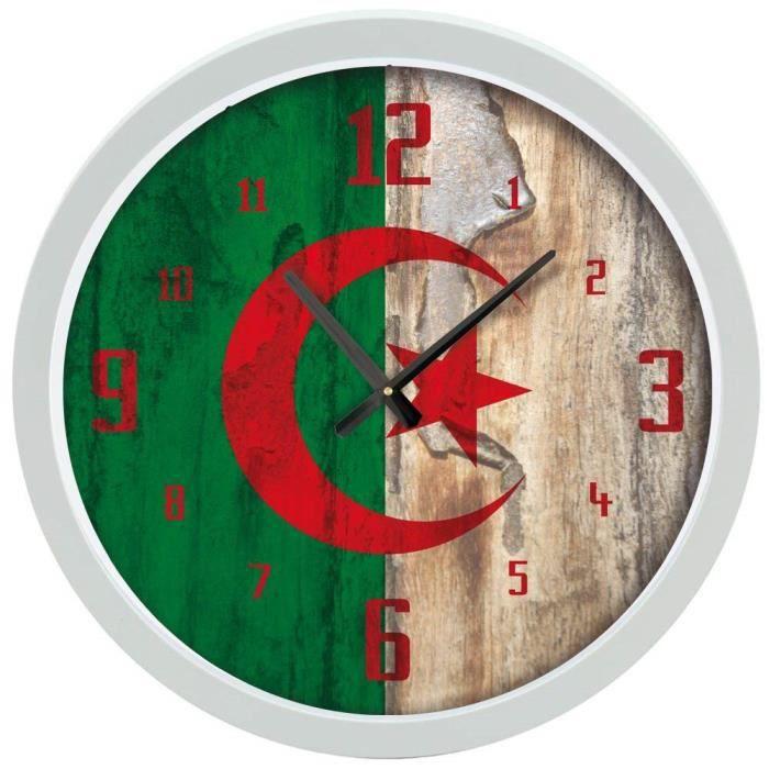 ALGERIE   ALEGERIA Horloge Murale   Alam Al Jazāu0027ir   Fierté Algérienne    (30x30x4 Cm)