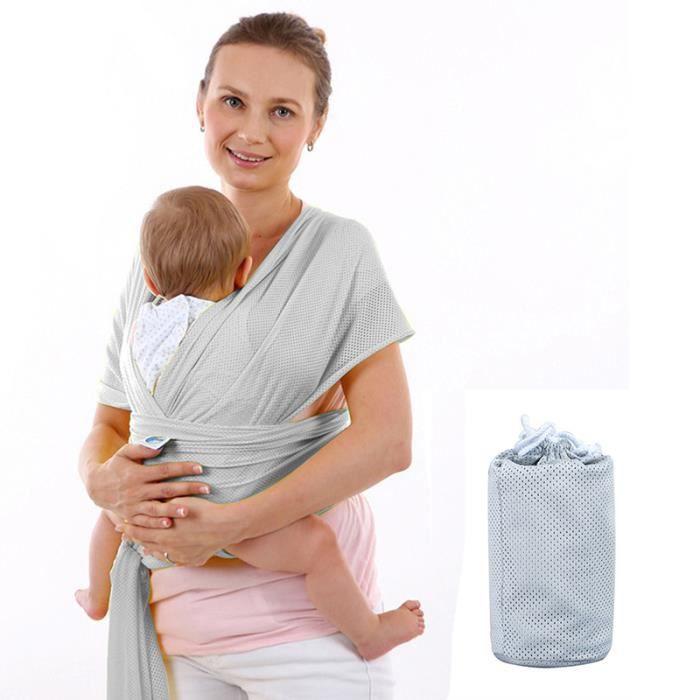 Echarpe de portage porte bébé moby wrap(Gris) - Achat   Vente ... b40eb247574