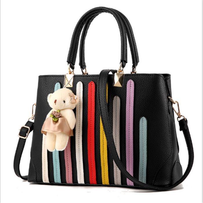 sac à main Sac Femme De Marque De Luxe En Cuir sac cabas femme de marque sac cuir noir Nouvelle mode femmes sacs à main en cuir