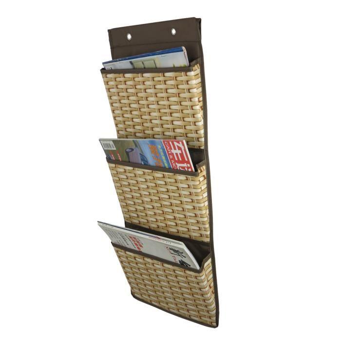 artsmaxsac de rangement mural porte revues a 3 niveaux organiseur stockage gadgets pour maison. Black Bedroom Furniture Sets. Home Design Ideas