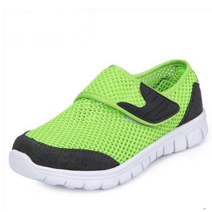 Chaussures de sport respirant chaussures de maillage garçons de chaussures pour enfants réseau, Green 36