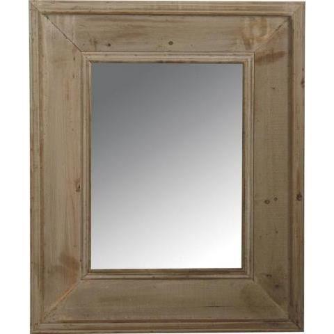 Miroir rectangle avec cadre en bois vieilli nat… Achat Vente