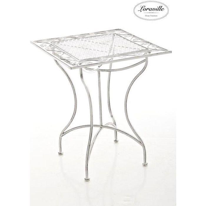 Clp Table De Jardin En Fer Forgé Asina 60 X 60 Cm Fabrication à La Main Au Style Antique Avec Précision 2 Couleurs Au Choix72 C
