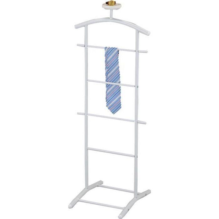 valet de chambre design Valet de chambre ATRIX chevalet de nuit portant pour vêtements design blanc