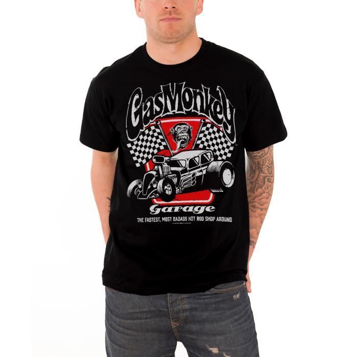 Builds Nouveau 2wei9dh Shirt Badass Kustom Garage Gas Monkey T Homme Ybgf76y