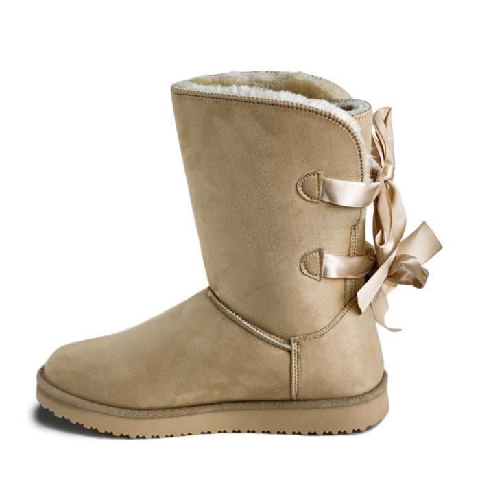 850576759c4355 BOTTE Chaussures Hiver Femme Bottes Fourrées JR962 Boots. Bottines femme.