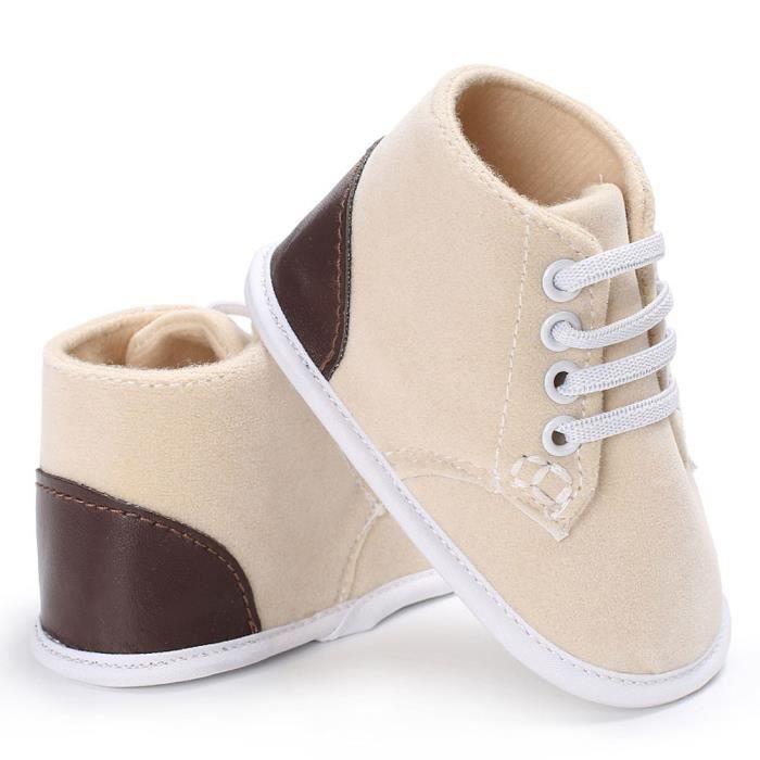 BOTTE Nouvelle mode bébé fille garçon doux semelle antidérapante coton Toddler chaussures@BeigeHM 7VBZVowS