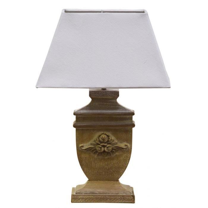 Lampe à poser pieds en bois sculpté H51cm - Achat / Vente Lampe à ...
