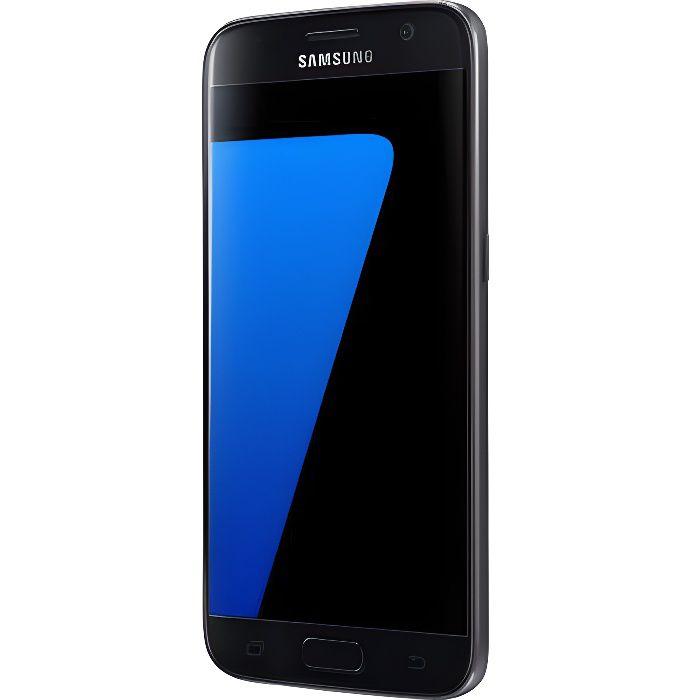 samsung galaxy s7 noir achat smartphone pas cher avis et meilleur prix cdiscount. Black Bedroom Furniture Sets. Home Design Ideas