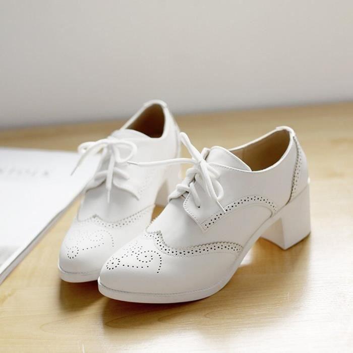 Chaussures Femme élégante Pointue En PU Cuir Toutes les pointures de la 35 à la 43