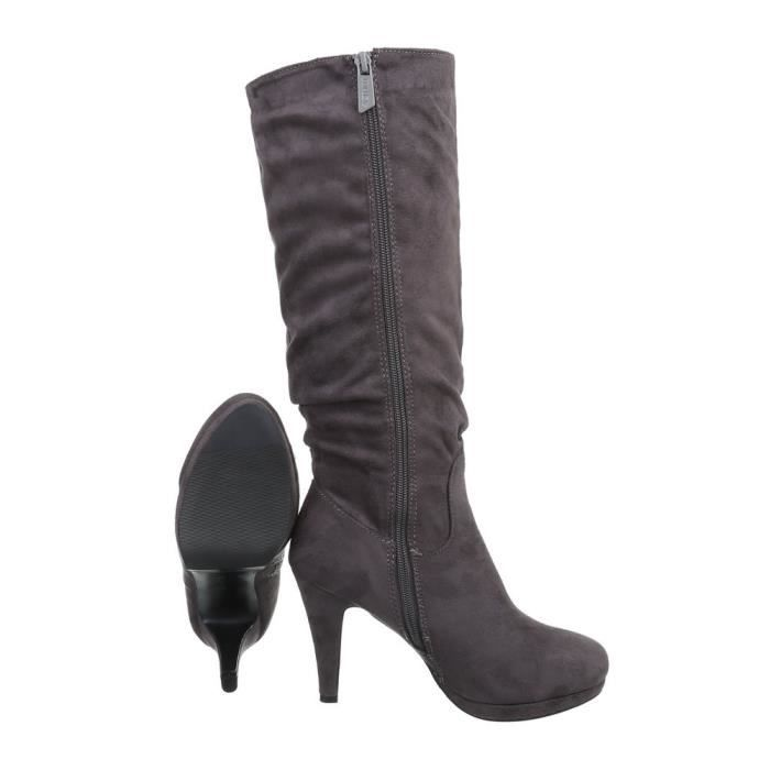 Chaussures femme bottes High Heels noir 41