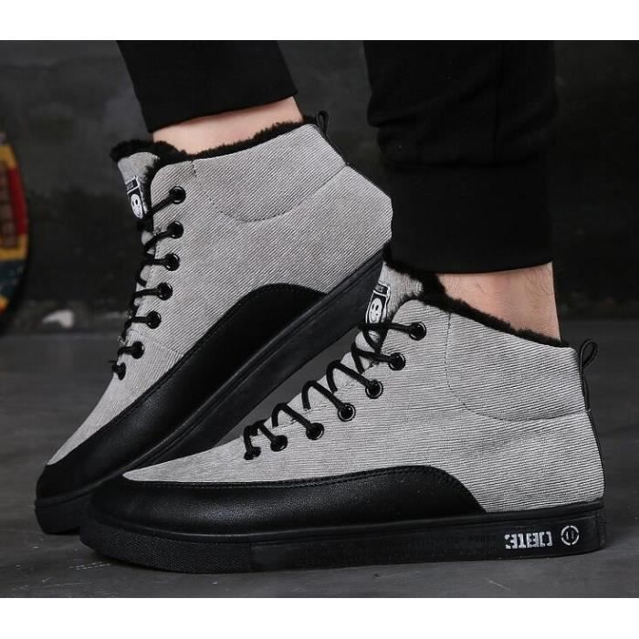 Mode pour hommes Chaussures de toile Flats Casual Shoes, da uomo di Scarpe moda da uomo da Scarpe appartamento casual,gris,43
