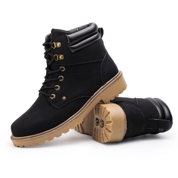 deuxsuns®Hommes Low cheville garniture plate cheville automne hiver bottes occasionnels Martin chaussures r10aCZNHsx