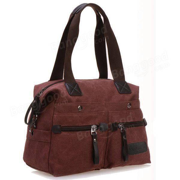 SBBKO1868Ekphero femmes hommes toile de poche multi sacs à main occasionnels oreiller épaule sac bandoulière sacs Khaki