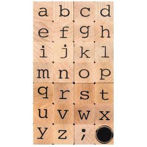 TAMPON DÉCORATIF Tampons bois - Alphabet en minuscules