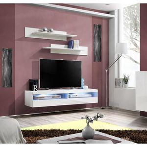meuble tv avec porte vitree achat vente pas cher. Black Bedroom Furniture Sets. Home Design Ideas