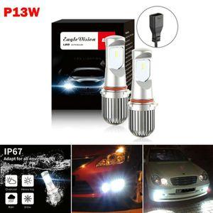 PHARES - OPTIQUES 2pcs P13W phares LED Ampoules Feux de croisement P
