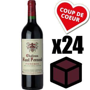 VIN ROUGE X24 Château Haut Ferrand 2010 Rouge 75 cl AOC Pome