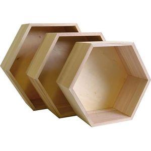 etagere hexagonale achat vente pas cher. Black Bedroom Furniture Sets. Home Design Ideas