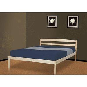 lit 160x200 bois achat vente lit 160x200 bois pas cher cdiscount. Black Bedroom Furniture Sets. Home Design Ideas