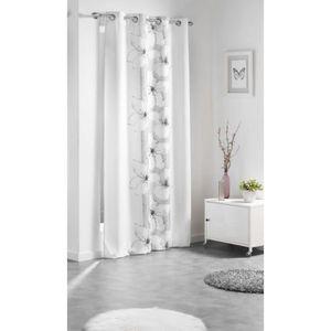 rideau gris et blanc achat vente rideau gris et blanc pas cher soldes d s le 10 janvier. Black Bedroom Furniture Sets. Home Design Ideas