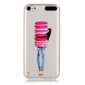 COQUE MP3-MP4 Pour iPod Touch 5 6,Macaron Style Transparent Ultr