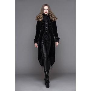 Veste femme en velours noir avec broderies, faux 2pcs, gothique élégant  aristocrate 9049591ffa75