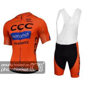 MAILLOT DE CYCLISME Race CCC Sprandi  Maillot de Cyclisme Manches Cour
